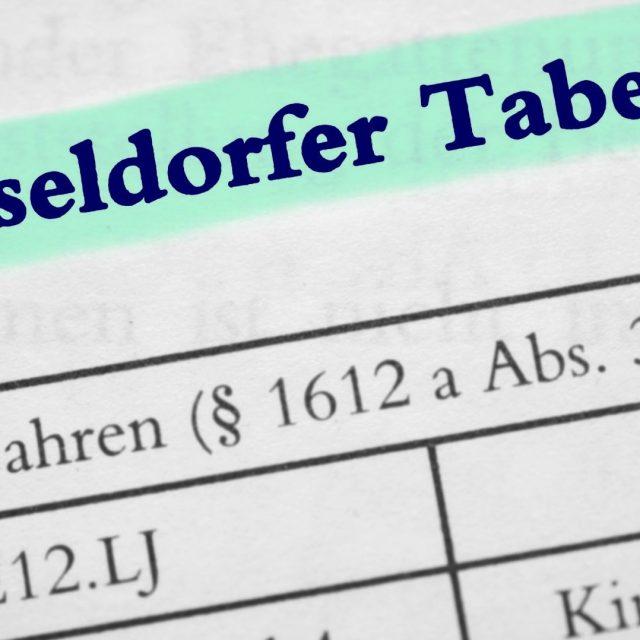 Die neue Düsseldorfer Tabelle ist da – so arbeiten Sie mit ihr